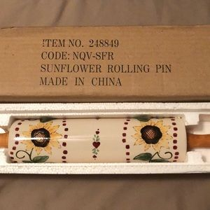 Other - Ceramic Sunflower Rolling Pin. Beautiful - New
